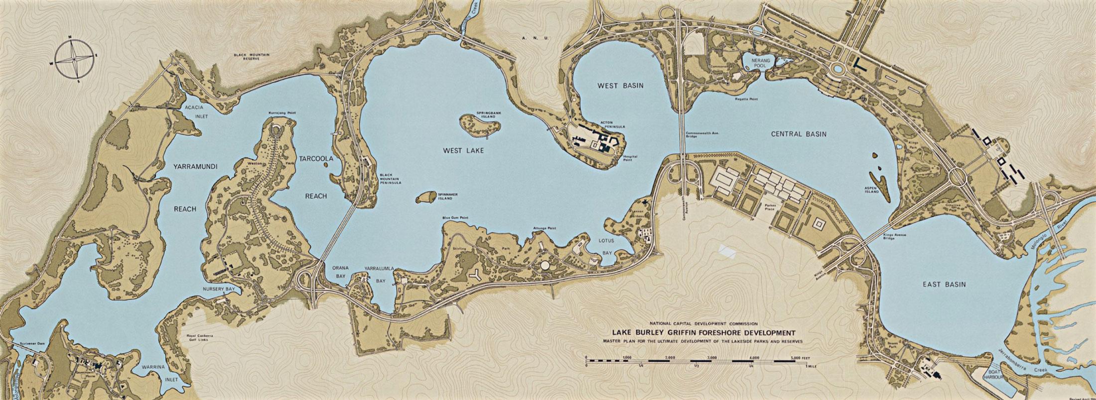Lake burley griffin losing an inspired vision lake for Lake plan