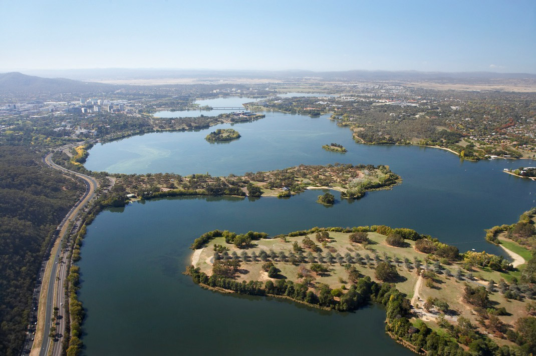 View-of-West-Lake---Lake-Burley-Griffin-from-the-west