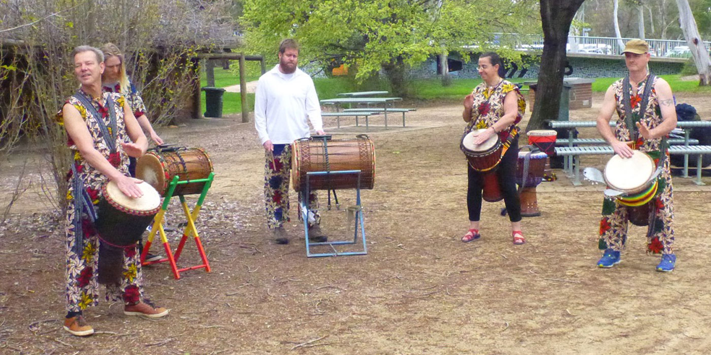 Tanamasi Music at the Celebration of West Basin (photograph by Davide McKenzie)