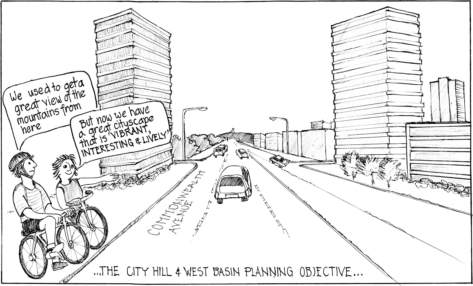 City Hill to West Basin Future Prospect (drawn by J. Ramsay)